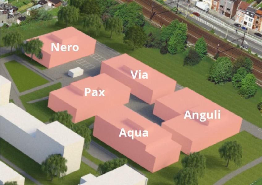 Hoogwaardige nieuwbouwkantoren (2424m²) langs de Schelde en rand centrum Gent