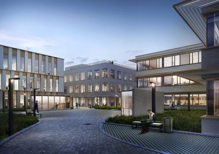 Hoogwaardige nieuwbouwkantoren (2717m²) langs de Schelde en rand centrum Gent