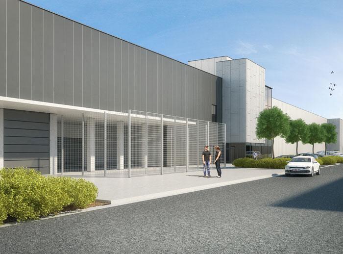 Bedrijfsgebouw (vanaf 1.900m²) op voormalige Barco-site aan op- en afrit R8 Kortrijk